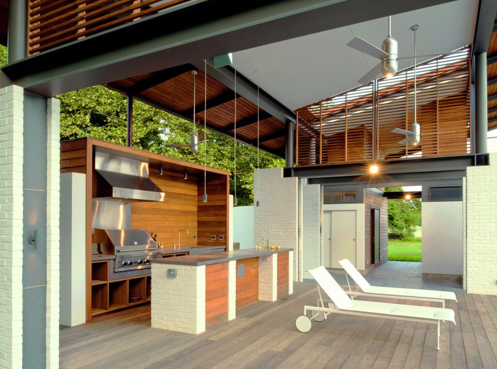 30 Fresh and Modern Outdoor Kitchens on Open Backyard Ideas id=99395