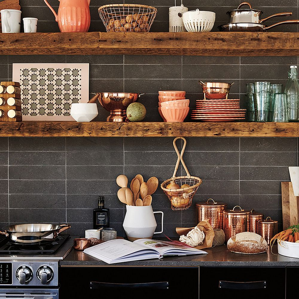 20 Rustic Kitchen Shelving Ideas with Timeless Rugged Charm on Farmhouse Rustic Kitchen  id=11449