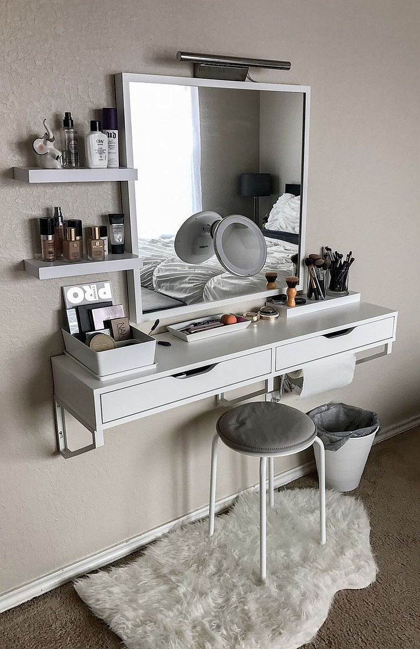 20 Makeup Vanity Sets and Dressers to Complete your Dream ... on Makeup Bedroom  id=37621
