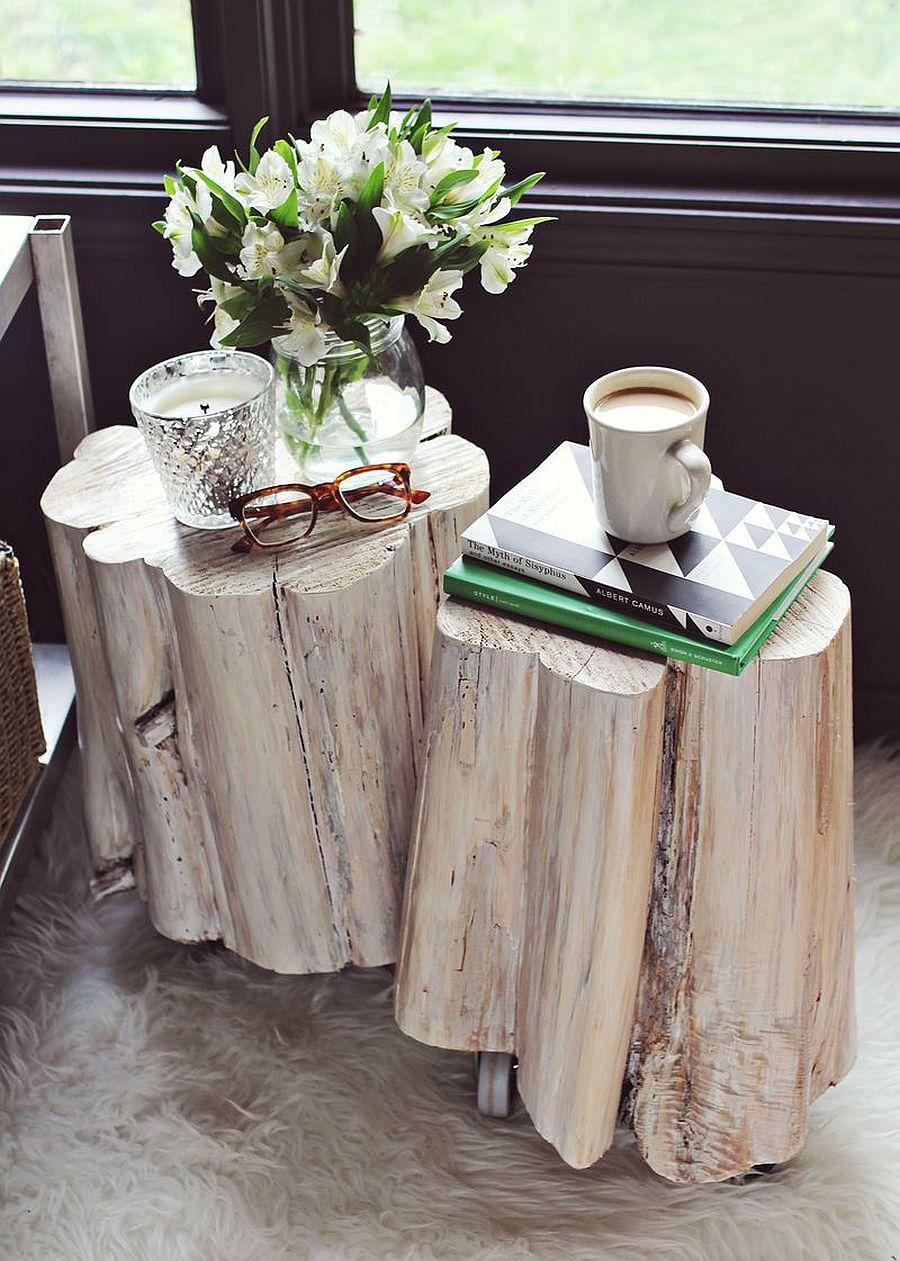 11 diy tree stump decor ideas that