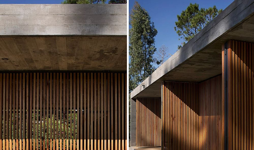 Movable Wall Of Wooden Slats Marindia House In Montevideo