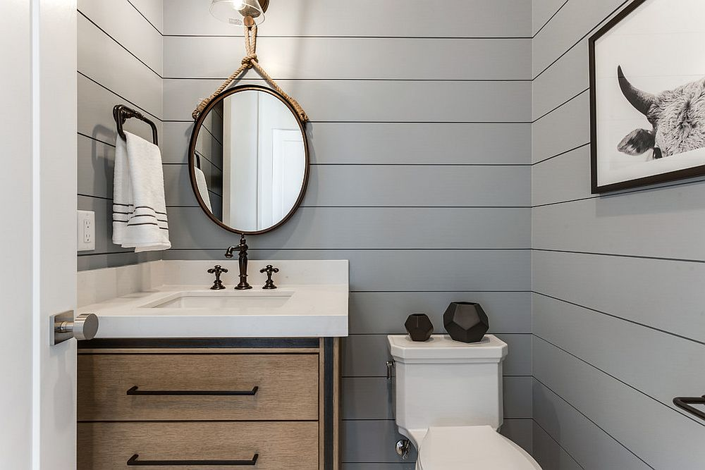 Refined And Refreshing: Trendy Powder Rooms In Gray And
