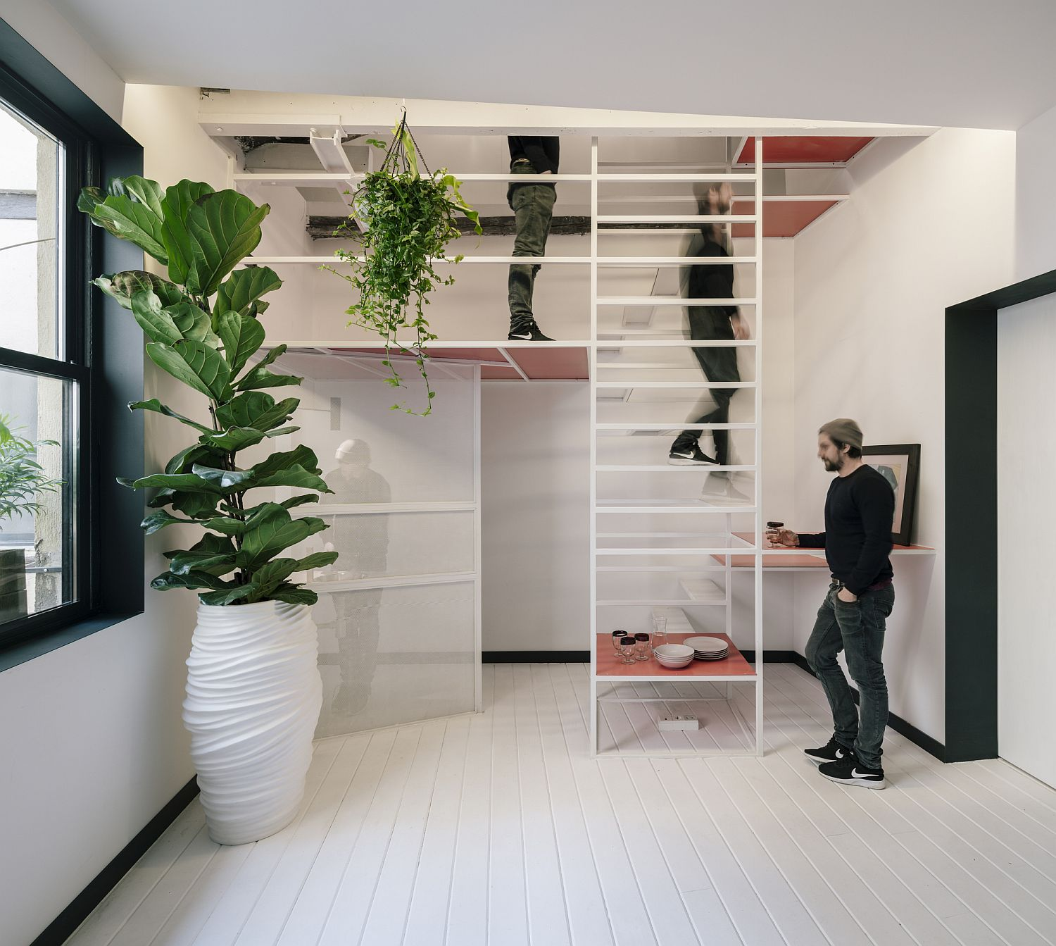 Ultra Tiny Madrid Apartment With A Multi Tasking Staircase