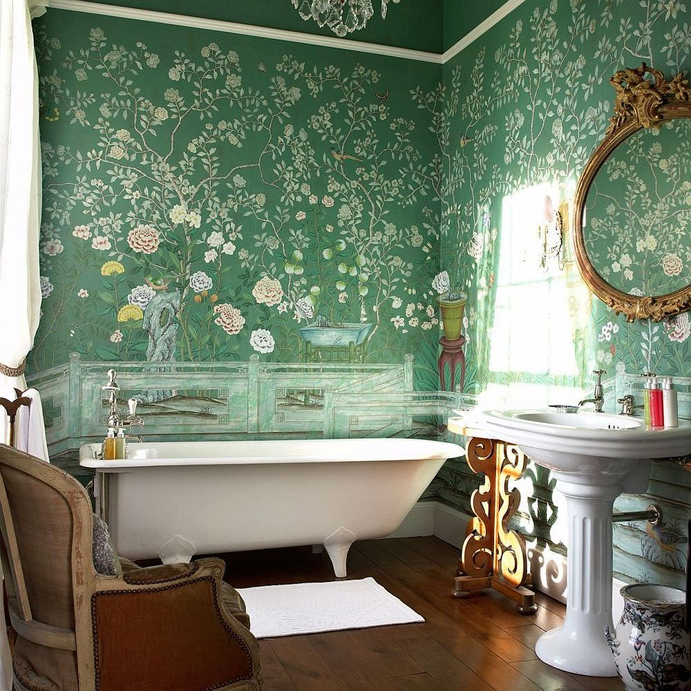 hottest bathroom fall color trends to