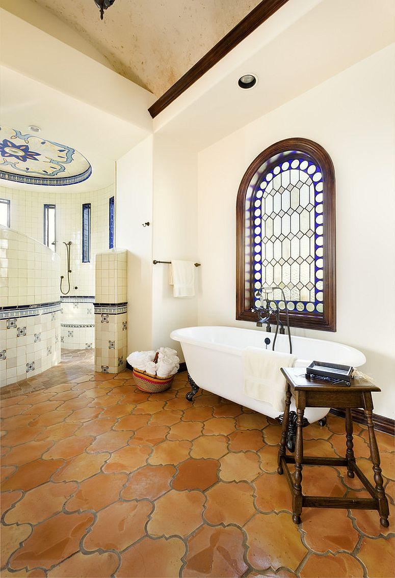 bathrooms with timeless terracotta tiles