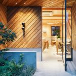 Modern Japanese Cafe With A Cozy Residence Above Makes A Woodsy Impression