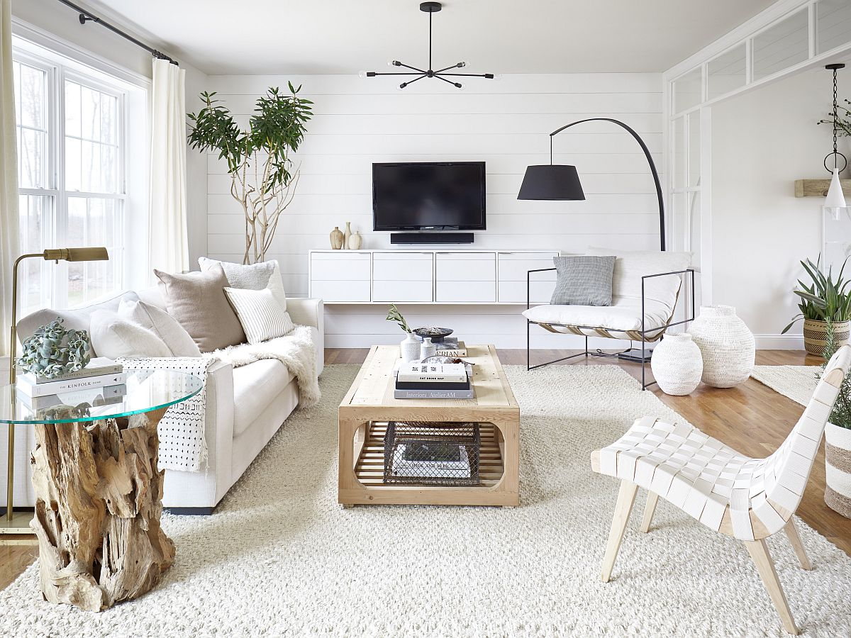 Small White Living Rooms Make a Statement: 25 Gorgeous ... on Beautiful Small Room  id=89230