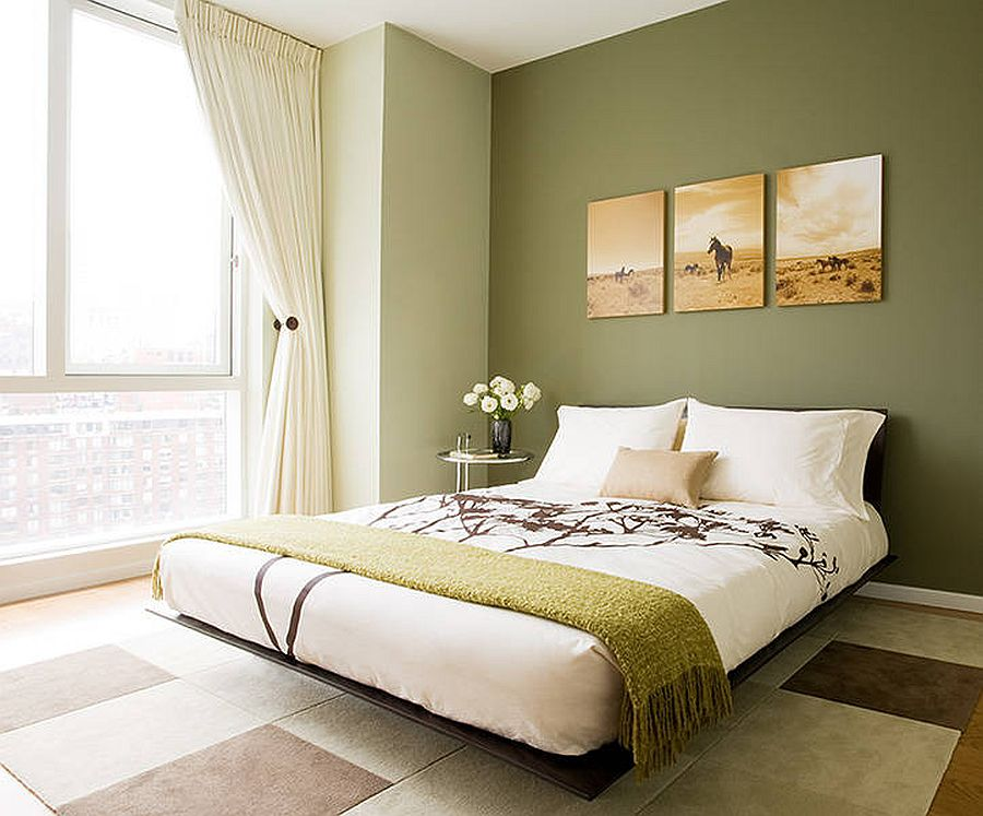 how to use olive green inside any room