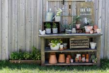 100 Garden Potting Bench Coral Coast Outdoor