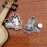 10pcs 18mm Charm Rabbit Silver Pendant Diy Jewelry Making