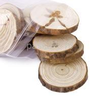 10x Pine Tree Wood Slices Rustic Table Coasters Wedding