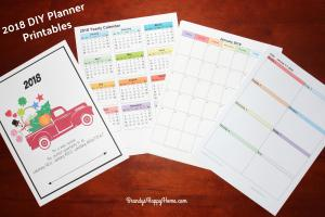 2018 Diy Calendar Planner