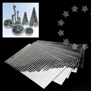 3000pcs Silver Diy Self Adhesive Mirror Home Decor Mosaic