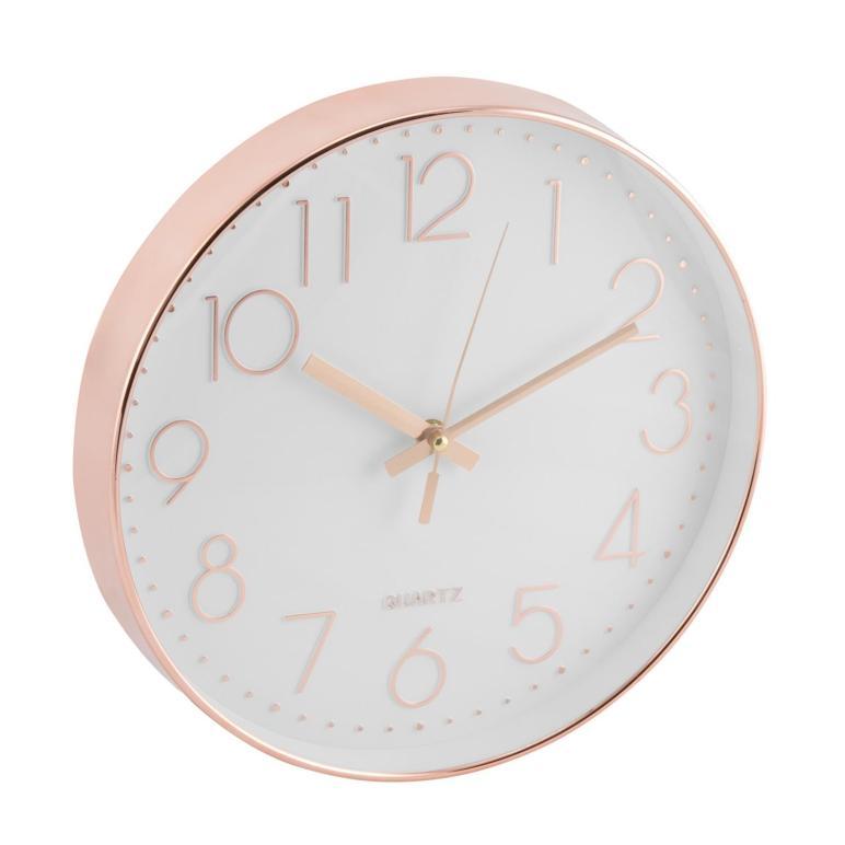 30cm Rose Gold Copper Wall Clock Bronze Modern Stylish