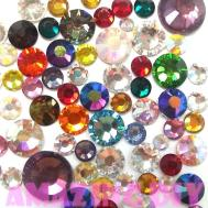 600 Pcs 2mm 5mm Mix Color Crystal Glass Rhinestone