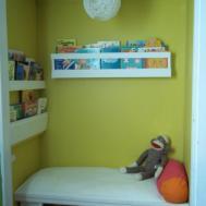 Abernathy Crafts Closet Turned Reading Nook