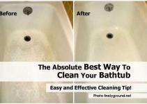 Absolute Best Way Clean Your Bathtub