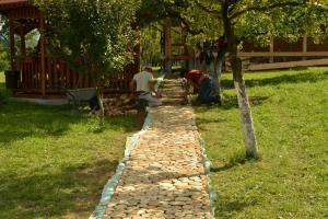 Acacia Wood Slices Rustic Garden Path Home Design
