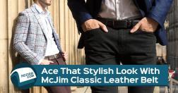 Ace Stylish Look Mcjim Classic Leather Belt Rezirb