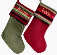 Adult Christmas Stockings Modern Velvet