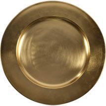 Alena Charger Plate D35cm Gold One Furniture Dubai