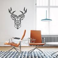 Aliexpress Buy Geometric Deer Wall Sticker Modern