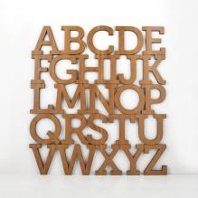 Alphabet Wooden Wall Hanging Kids Abc Baby Nursery Theme