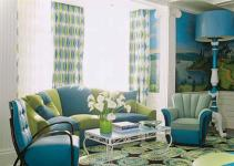 Amazing Blue Green Living Room Inspiration