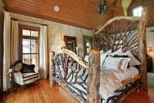 Amazing Rustic Bedroom Interior Design Ideas Log Wood
