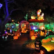 Amazing Scary Outdoor Halloween Party Design Lighting