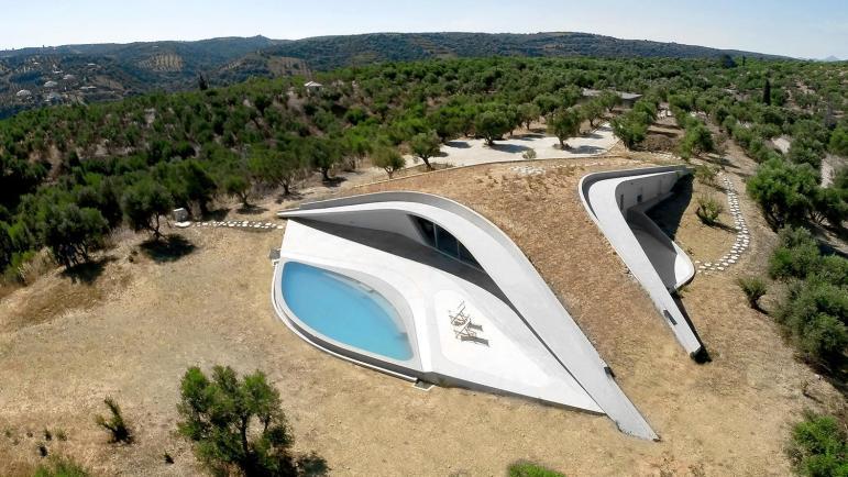 Amazing Underground House Greece Frames Views
