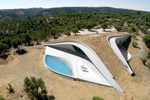 Amazing Underground House Greece Frames Views