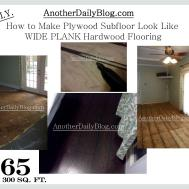 Another Daily Blog Diy Make Plywood Subfloor Look
