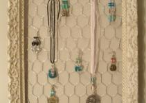 Antique Frame Jewelry Organizer Display Holder