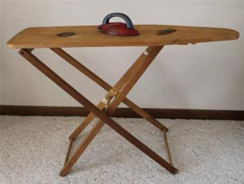 Antique Primitive Gift Wooden Child Toy Ironing Board