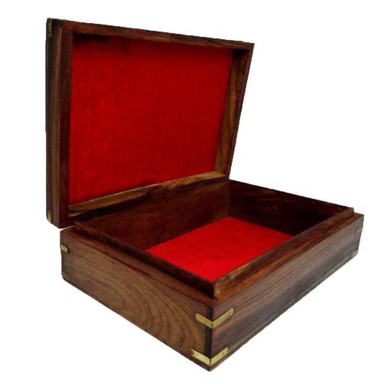 Antique Vintage Style Large Wooden Jewelry Box Decorative