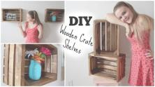 Appealing Wooden Crate Wall Shelves Wild Wood Home Ideas