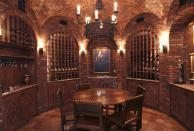 Architecture Luxury Wine Cellar Design Exposed Wall