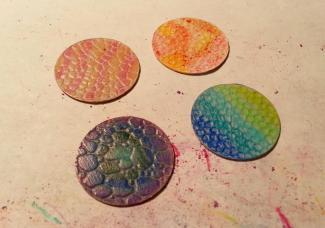 Art Jewelry Elements Metal Colored Pencils Fun