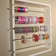 Arts Crafts Room Ribbon Rack Shelf Desk