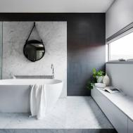 Award Winning Monochromatic Bathroom Minosa Design