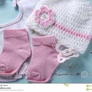 Baby Girl Nursery Dummy Pacifier Socks Bib Bonnet