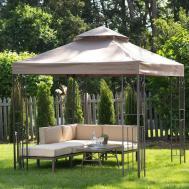 Backyard Gazebo Steel Frame Canopy Garden Shade