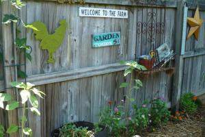 Backyard Outdoor Garden House Design Old Wooden Fence