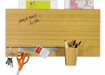 Bamboo Dry Erase Wall Panel Message Board White