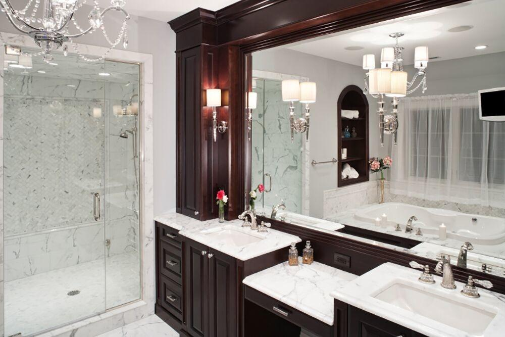 Bathrooms Dark Cabinets Design Decoratorist 147741