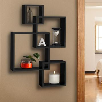 Bcp Intersecting Squares Floating Shelf Wall Mounted Home