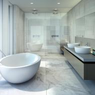 Beach House Miami Luxury Condos Bathroom New Build Homes