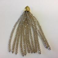 Beaded Crystal Tassel 70mm Length Piece Handmade
