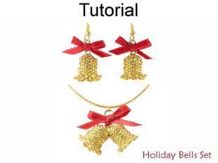 Beading Tutorial Pattern Christmas Holiday Earrings